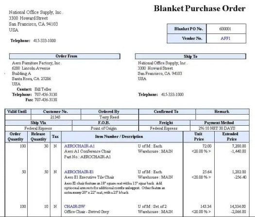 purchase order template 8.