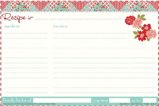 recipe card template 6.