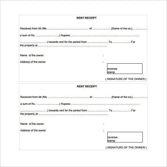 Rent Receipt Templates Find Word Templates – Free Rent Receipt