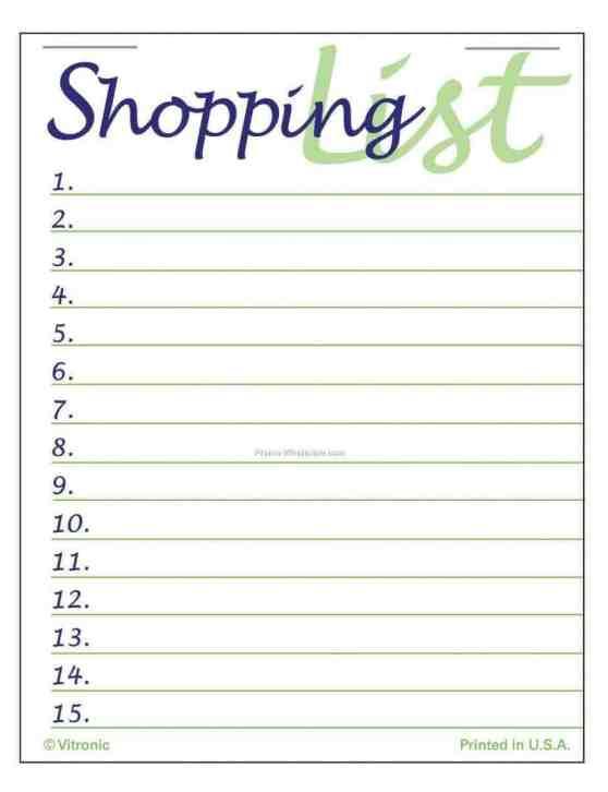 shopping list template 6.