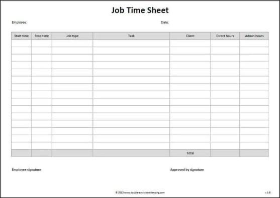 timesheet template 2.
