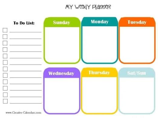weekly planner template 1.