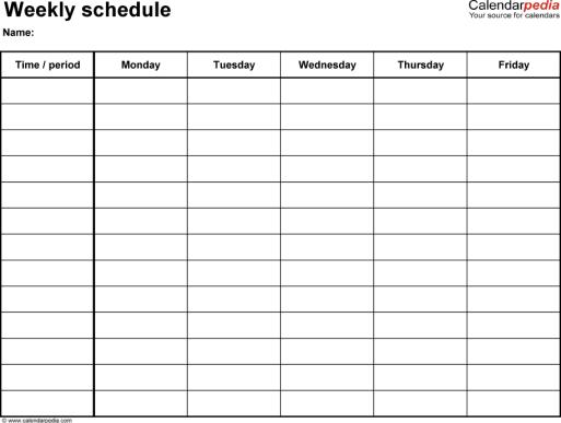 weekly planner template 3.