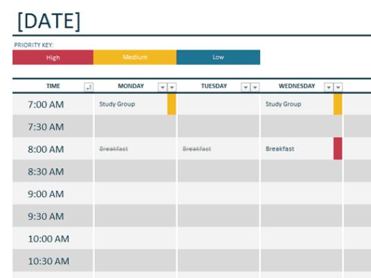 weekly planner template 6.