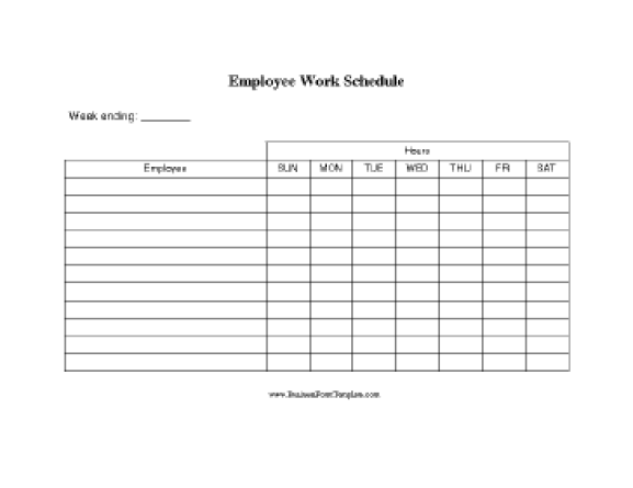 work schedule template 4.