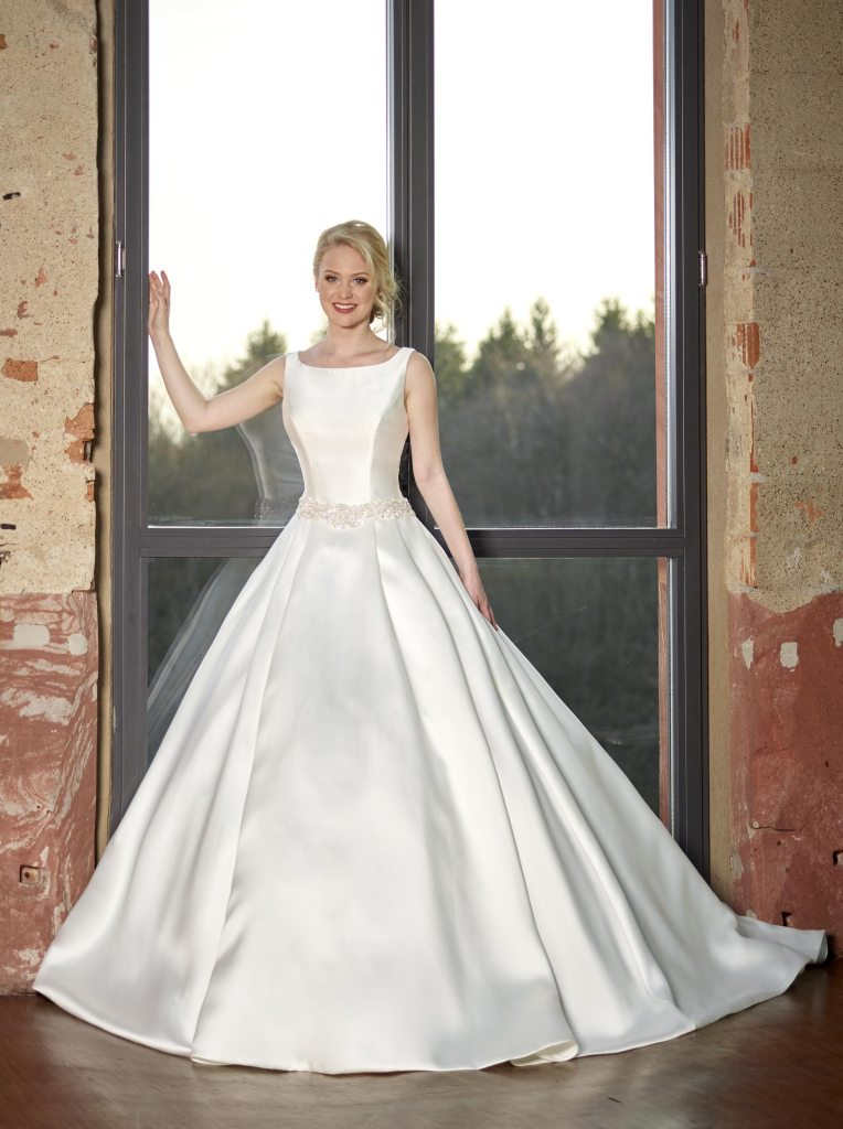 Stunning satin wedding dresses from Novabella - Find Your Dream Dress
