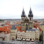 A view of the famous European Old Town Square in Prague