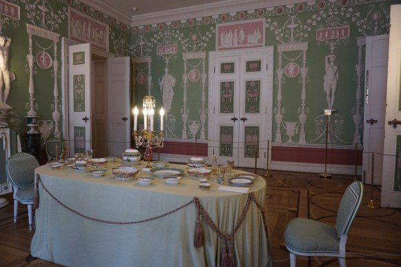 Dining room inside Catherine Palace