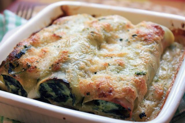 Our Italian Christmas Cooking Recipes – Cannelloni with spinach and ricotta cheese