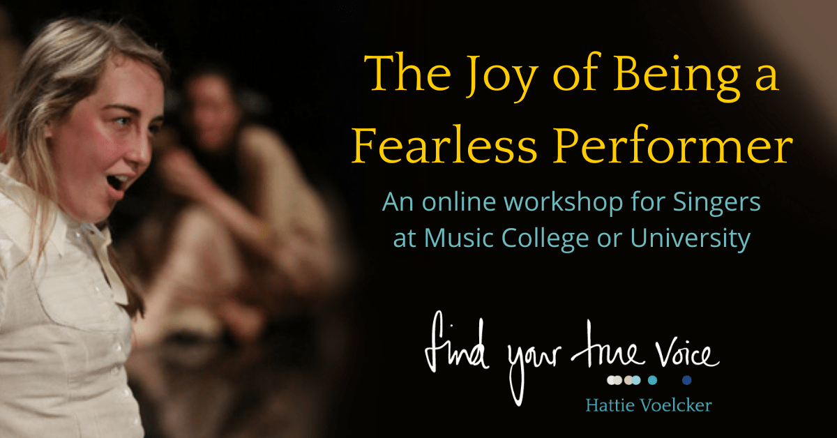 The Joy of Being a Fearless Performer for Colleges Banner