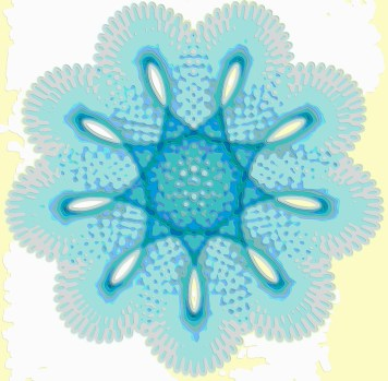 Spirograph Layer Art Blue Sprite