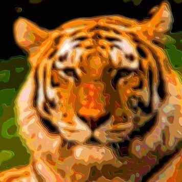 Cutout Layer Art Animal Portrait Tiger