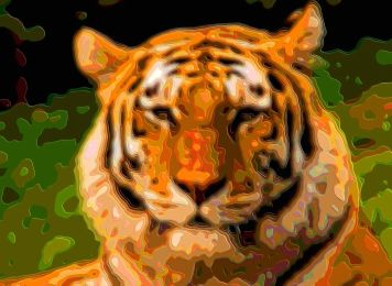Cutout Layer Art Animal Portrait Tiger