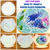Art for Kids:  How to Make Paper Plate Fishbowls