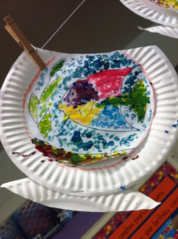paper plate fishbowl 3