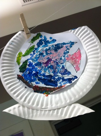 paper plate fishbowl 6