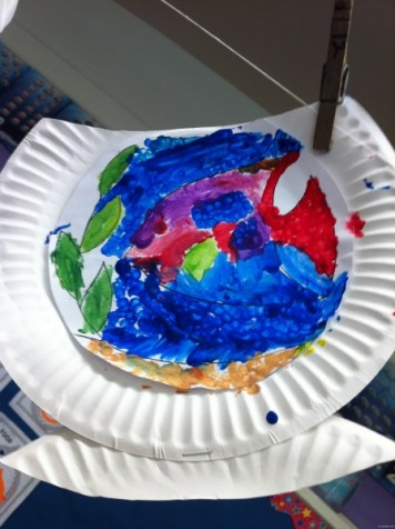 paper plate fishbowl 8