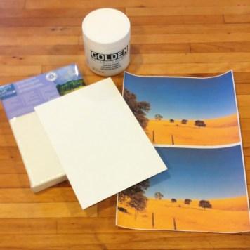 Inkjet photo transfer project