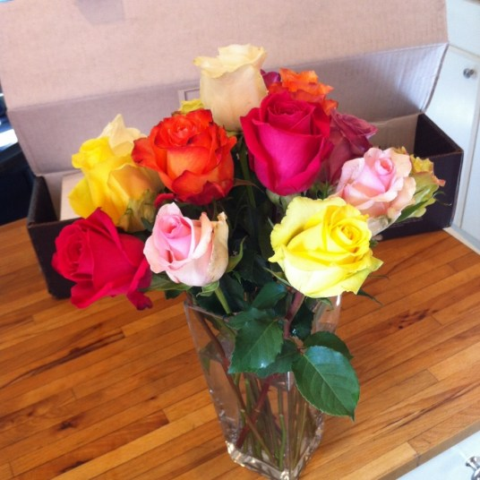 Bouqs Review Flowers in Vase