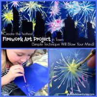 How to Paint With Straws:  Fancy Fireworks!