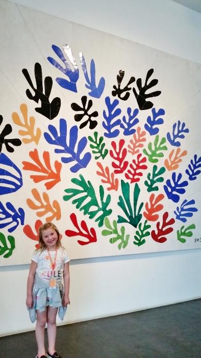 LACMA Maisie with Matisse Fine Art Mom