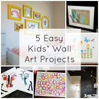 5 Easy Kids' Wall Art Projects