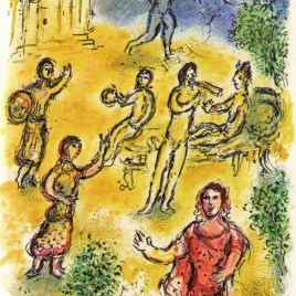 "Chagall Marc, ""Banquet at the palace of Menelaus – Odyssea V1"" 1989"