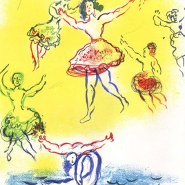 "Chagall Marc, ""Sketch for the swan lake"""