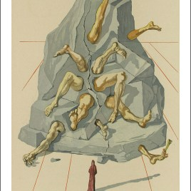 "Dali Salvardor, ""Hell 19 – the simonists"""