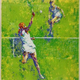 "Mark King, ""Playing tennis"""