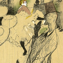"Lautrec Henri de Toulouse, ""Sketch for La goulue"""