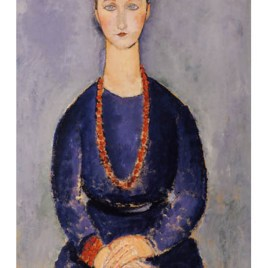 "Modigliani Amedeo, ""Woman with red necklace 1916"""