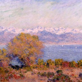 "Monet Claude, ""The Alps seen from Cap dAntibes"""