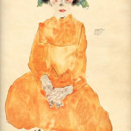 Schiele_21_girl_in_yellow_dress_1911-