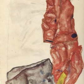 "Schiele Egon, ""Self portrait as prisoner 1912"""