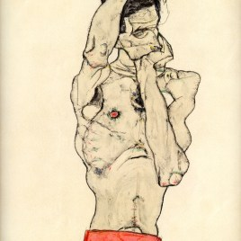 "Schiele Egon, ""Standing male nude with red loincloth 1914"""
