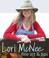 lori mcnee plein air artist with hat