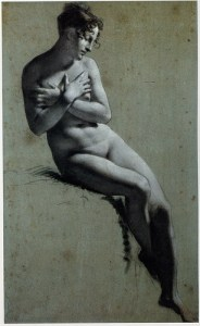 charcoal figurative drawing nude