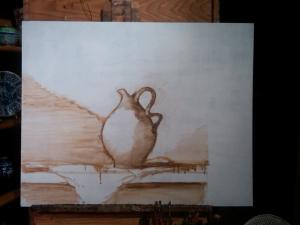 oil painting underpainting