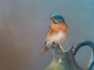 bluebird oil painting