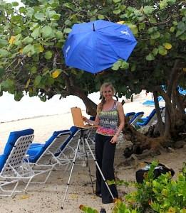 plein air painting Caribbean