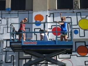 one point graffiti girls painting