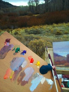 artist plein air painting palette