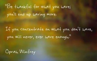 thanksgiving Oprah quote