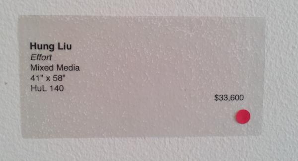 hung liu, red dot, how to price paintings, price artwork