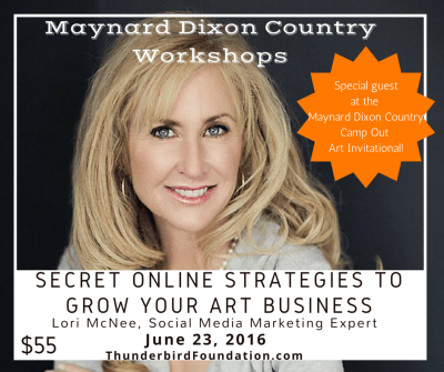 Maynard Dixon Country Camp Out workshop Lori McNee