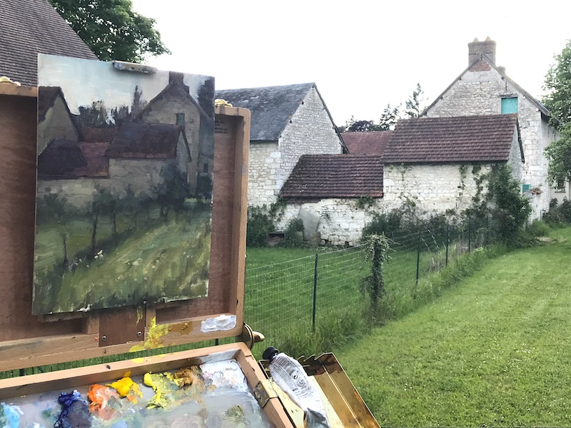 Landscape painting in Monet's Garden