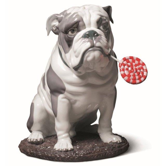 lladro bulldog with, waterford, waterford crystal, swarovski