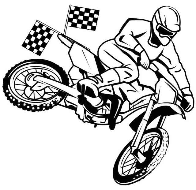 10 Best Free Printable Dirt Bike Coloring Pages For Kids