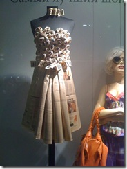 paper dress Window Steffl Vienna